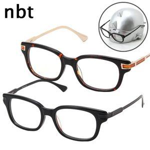 nbt(エヌビーティー) ダテメガネ&nb太ディスプレイ ブラック&シルバー NBV02-1&ディスプレイ