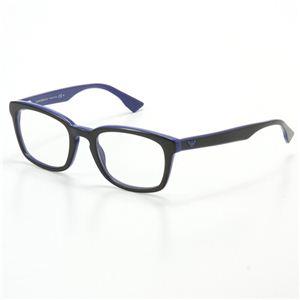 EMPORIO ARMANI(エンポリオアルマーニ) ダテメガネ ブラック&ブルー 9673-U02