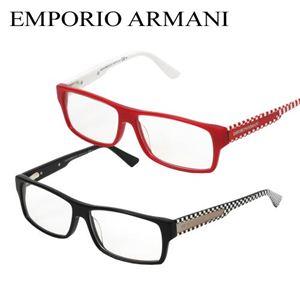 EMPORIO ARMANI(エンポリオアルマーニ) ダテメガネ 9597-DO1 レッド&レッドチェック