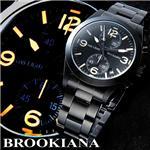 BROOKIANA(ブルッキアーナ) クロノグラフ BLACK NIGHTHAWK 3Hカプセルガスライトシステム 画像1