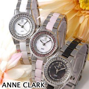 ANNE CLARK(アン・クラーク) レディース 1Pダイヤ ブレスウォッチ  AM1024-11/ブラックシェルの写真3