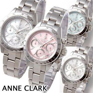 ANNE CLARK(アン・クラーク)1Pダイヤブレスウォッチ クロノグラフ レディース AM-1012VD-22 ピンク