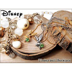 Disney(ディズニー)ティンカーベルネックレス F1050078 ゴールド 全長47.1cm - 拡大画像