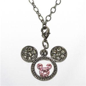 Disney(ディズニー) ミッキー&ミニー生誕80周年記念 スワロミッキーペンダント ブラックダイヤ F1050151 - 拡大画像