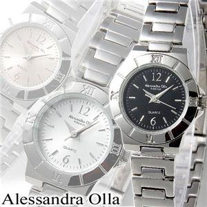 Alessandra Olla(アレサンドラ・オーラ) レディースメタルウォッチ AO-911 ブラック