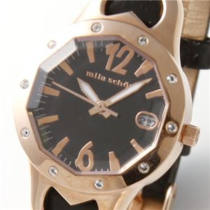 mila schon(ミラ・ショーン) レディース ウォッチ MS.1055L/05/ゴールド×ブラック