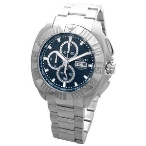 COGU(コグ) 腕時計 クロノグラフ スモールセコンド メンズウォッチ CG-CS20 BLブルー - 拡大画像