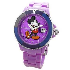 Disney(ディズニー) 腕時計 Mickey Mouse(ミッキーマウス) D91084SVPU パープル - 拡大画像