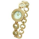 ANNE CLARK(アンクラーク) 腕時計 天然1Pダイヤモンド ムービングカラーストン レディース ブレスウォッチ  AT1008-09PG ホワイトシェル