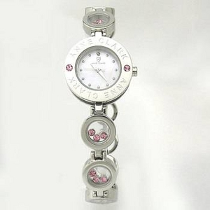 ANNE CLARK(アンクラーク) 腕時計 天然1Pダイヤモンド ムービングカラーストン レディース ブレスウォッチ AT1008-17 - 拡大画像