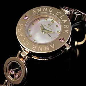 ANNE CLARK(アンクラーク) 腕時計 天然1Pダイヤモンド ムービングカラーストン レディース ブレスウォッチ AT1008-17PG
