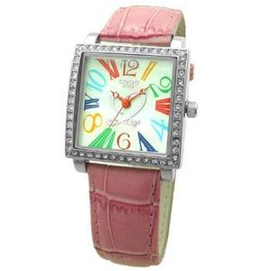COGU(コグ) 腕時計 Ryo リョウ スクエアシリーズ カラフルインデックス ピンク RYO1206S-C1P レディースウォッチ - 拡大画像