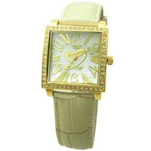 COGU(コグ) 腕時計 Ryo リョウ スクエアシリーズ ゴールドケース アイボリー RYO1206G-G1IV レディースウォッチ - 拡大画像