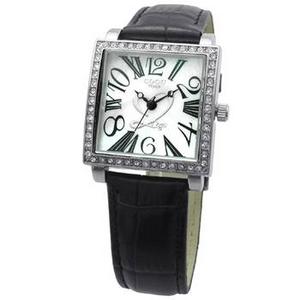COGU(コグ) 腕時計 Ryo リョウ スクエアシリーズ ホワイト文字盤 ブラック RYO1206S-B1B レディースウォッチ - 拡大画像