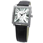 COGU(コグ) 腕時計 Ryo リョウ スクエアシリーズ ホワイト文字盤 ブラック RYO1206S-B1B レディースウォッチ