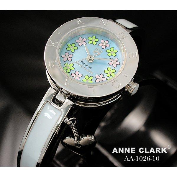 ANNE CLARK(アン・クラーク)レディース腕時計 AA1026-10(文字盤ブルー) 【花柄の文字盤がキュート】  f00