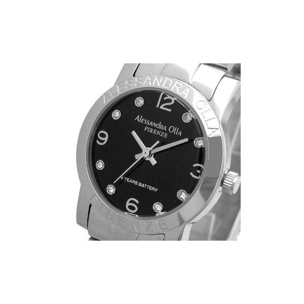 Alessandra Olla(アレサンドラオーラ)腕時計 ラウンドフェイス レディースウォッチ AO-711 ブラックf00