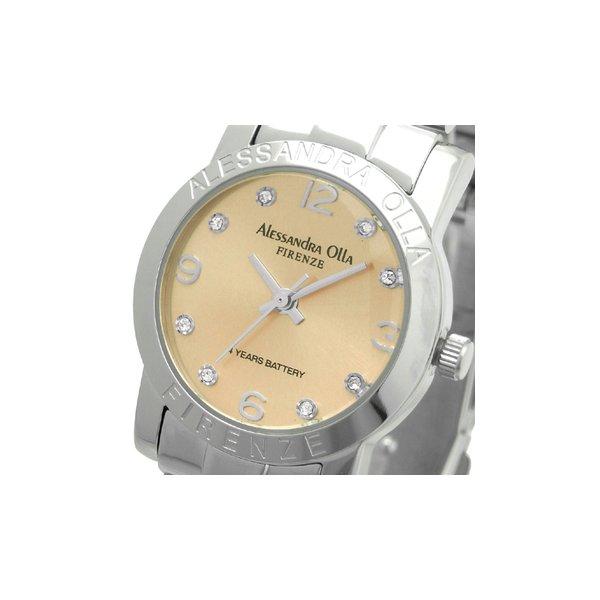 Alessandra Olla(アレサンドラオーラ)腕時計 ラウンドフェイス レディースウォッチ AO-715 ピンクゴールドf00