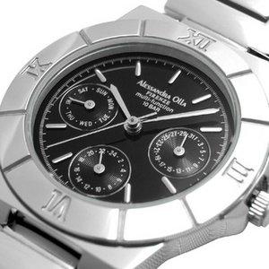 Alessandra Olla アレサンドラオーラ 腕時計 マルチファンクション レディースウォッチ AO-900-1 ブラック