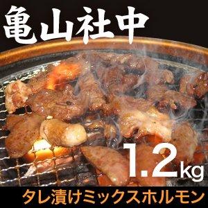 【リニューアル!】亀山社中 タレ漬けミックスホルモン 1.2kg