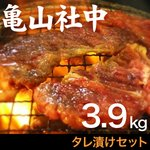 【リニューアル!】亀山社中 タレ漬けセット 華咲きハラミ&華咲き肩ロース 3.9kg