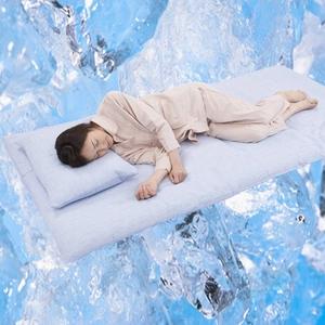 クールシーツDX『涼』 高島ちぢみ セミダブル ベッド用 綿100% 日本製 - 拡大画像