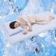 クールシーツDX『涼』 高島ちぢみ セミダブル ベッド用 綿100% 日本製 - 縮小画像1