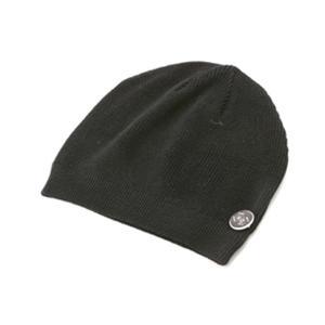 烏帽子型 ダメージサマーニットキャップ+ネックレス ABC-01 ブラック