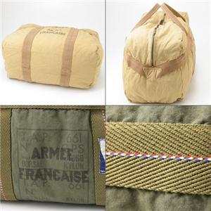 フランス軍空挺部隊 パラシュートボストンバッグ 10371 カーキ