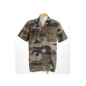 1990デッドストックフランス軍HTBシャツ軍放出品 カモフラージュ
