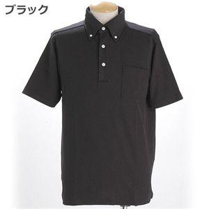 COOLBIZ ドライメッシュBDシャツ ブラック Sサイズ