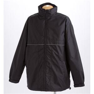 夜道も反射リフレクター付き!中綿キルトコート ブラック XLサイズ
