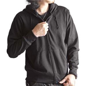 吸汗速乾パーカー ブラック Lサイズ h01