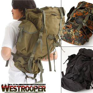 【訳あり・在庫処分】WESTROOPER(ウエストルーパー) 75L 大型防水リュックサック ブラック