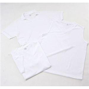 吸汗速乾素材Tシャツ3型セット ホワイト Mサイズ