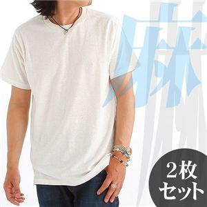 夏涼しいヘンプコットンTシャツ Lサイズ