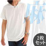 ヘンプコットン(麻混)Tシャツ2枚組み│麻55%・綿45%