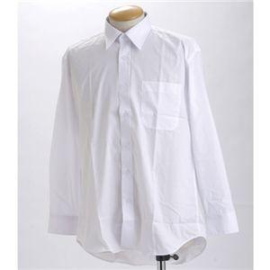 ブラック&ホワイト ワイシャツ2枚セット 長袖LL 【2点お得セット】