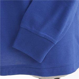ビッグサイズポケット長袖ポロシャツ ロイヤルブルー 4Lサイズ f04