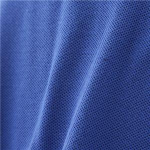 ビッグサイズポケット長袖ポロシャツ ロイヤルブルー 4Lサイズ f05