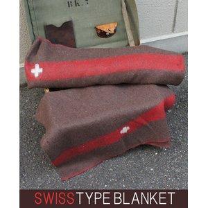 スイス軍 ウールブランケット EE263YN スモール 【レプリカ】 - 拡大画像