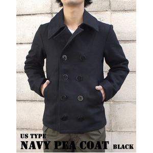 USタイプ海軍 ピーコート JC043YN ブラック 38( M) 【 レプリカ 】