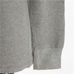 ドッグタグ付きコットサーマルヘンリーネックシャツ ビンテージ風ヘザー Mサイズ