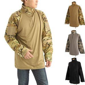 COMBAT ハーフジップシャツ ブラック Mサイズ