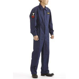 アメリカ海軍 (米軍 )紋章入り ヘリンボーンワーカーカバーオール 522904 ネイビー M