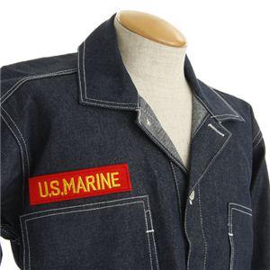 米軍 WW2 デニムワークジャケット ワッペン刺繍付き ネイビー M(38)