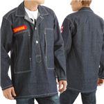 アメリカ軍WW2 デニムワークジャケット ワッペン刺繍付き ネイビー L(40)