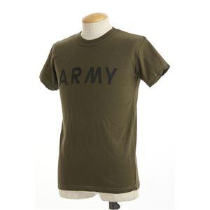 アメリカ軍ARMYオバーダイビンテージ風Tシャツ オーバーダイオリーブ XS
