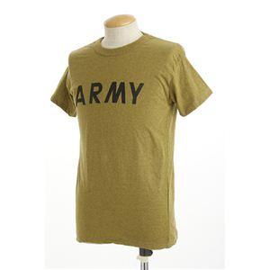 米軍ARMYオバーダイビンテージ風Tシャツ オーバーダイイエロー M