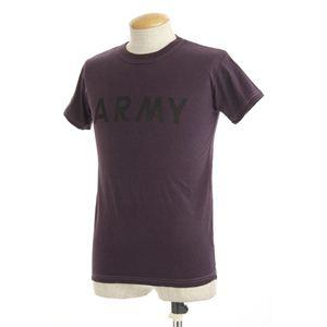 米軍 AR MYオバーダイ ビンテージ風 Tシャツ オーバーダイパープル XS